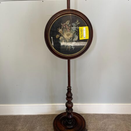 Rose Wood All Original Fire Screen Pole - Fully Furnished York